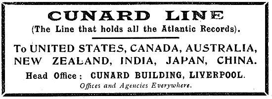 Cunard Line 1920