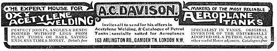A.C.Davison Arlington Rd Camden Town. Oxy Acetylene Welding