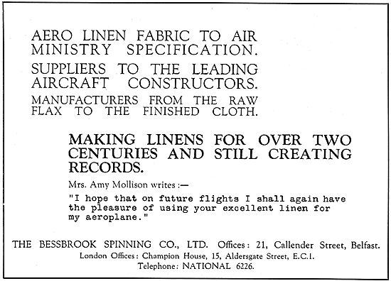 The Bessbrook Spinning Co  - Aircraft Linens & Coverings