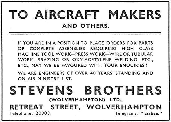 Stevens Brothers (Wolverhampton) Ltd - Components & Assemblies