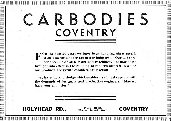 Carbodies Of Coventry - Sheet Metal Work
