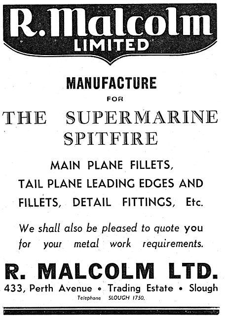 R.Malcolm Ltd. Perth Avenue. Trading Estate. Slough. Sheet Metal
