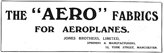 Jones Brothers Aero Fabrics.12 York St Manchester
