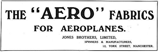 Jones Brothers Ltd Manchester - Aero Fabrics For Aeroplanes