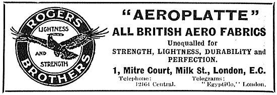 Aeroplatte All British Aero Fabrics - Rogers Brothers