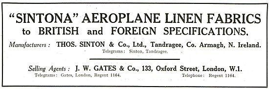 J.W.Gates & Co: Sintonia Aeroplane Linen