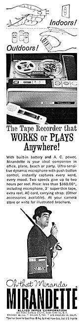 Allied Impex Mirandette Tape Recorder