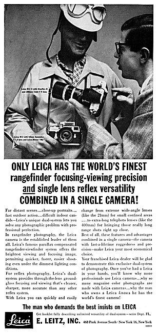 Leica SLR Cameras 1961 Advert