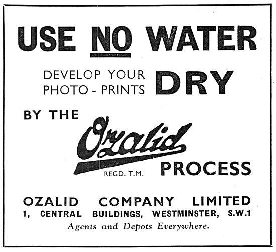 Ozalid Photgraphic Print Development Process 1934