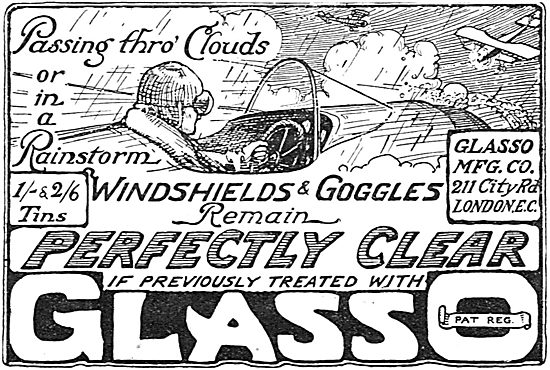 Windshields & Googles Treated With Glasso Remain Clear In Rain.