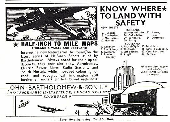 Bartholomews Air Maps & Charts