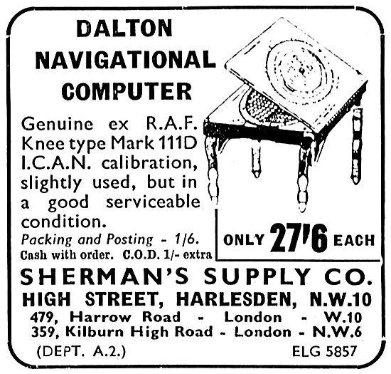 Sherman's Supply Co. Harlesden. Dalton Computer