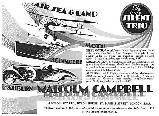 Malcolm Campbell Aircraft, Marine & Motor Sales