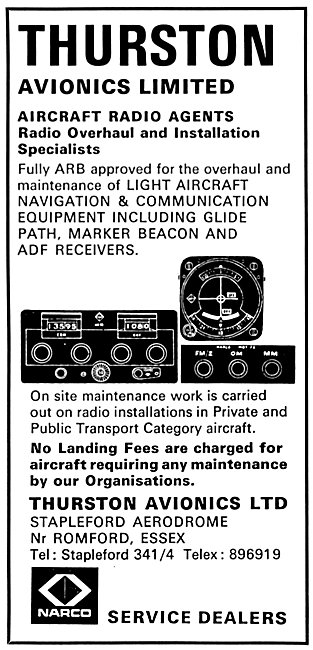 Thurston Avionics Stapleford  Avionics Maintenance