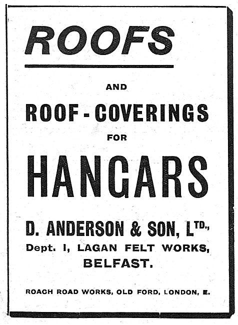 D.Anderson & Son Lagan Felt Works Belfast - Hangar Roof Coverings