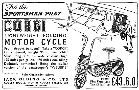 Jack Olding. Corgi Lightweight Folding Motor Cycle