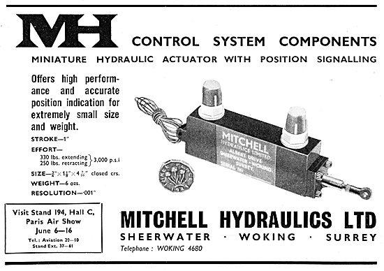 Mitchell Hydraulics Ltd. Woking. MH Hydraulic Control Components