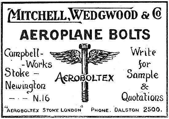 Mitchell Wedgwood & Co. AEROBOLTEX Bolts. AGS
