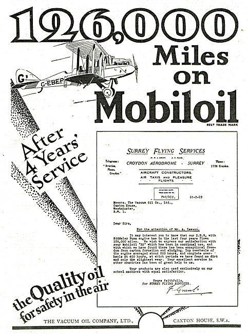 26,000 Miles On Mobiloil - Surrey Flying Services Testimonial