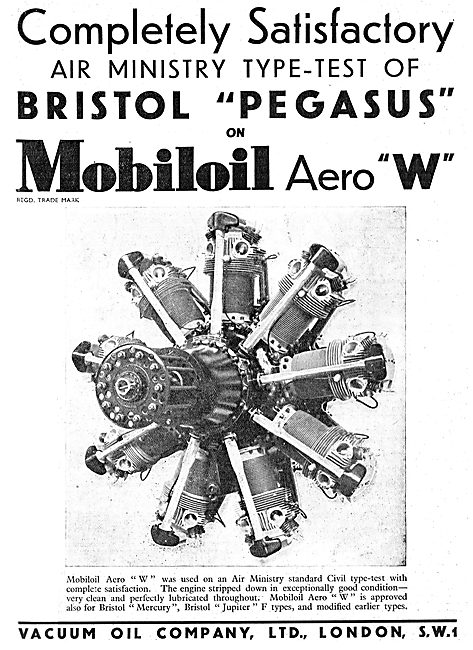 Bristil Used Mobiloil Aero