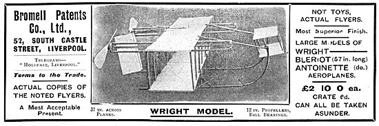 Bromell Patents : Models. Copies Of Fliers