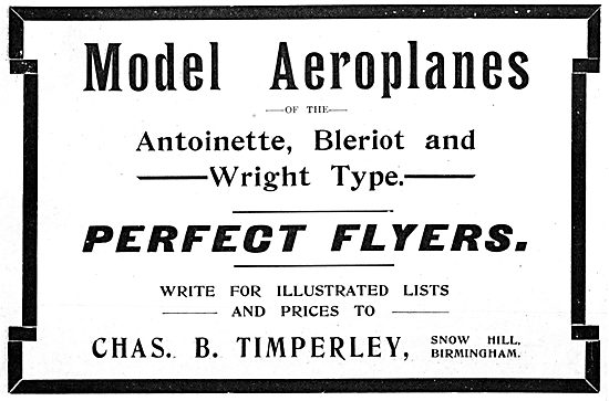 Chas. B.Timperley. Snow Hill. - Aircraft Models