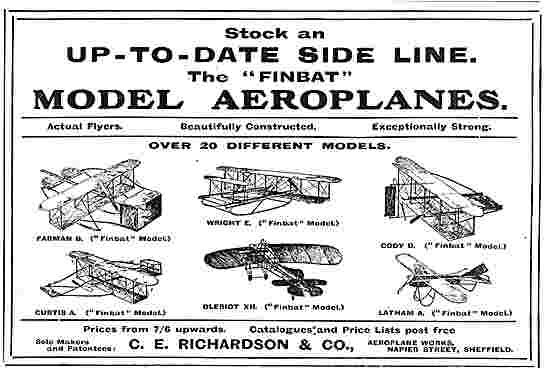 C.E.Richardson & Co Napier St Sheffield - Aviation Models