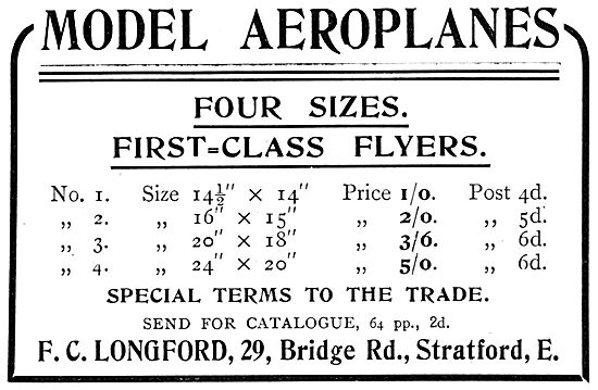 F.C.Longford. Model Aircraft, Supplies & Accessories