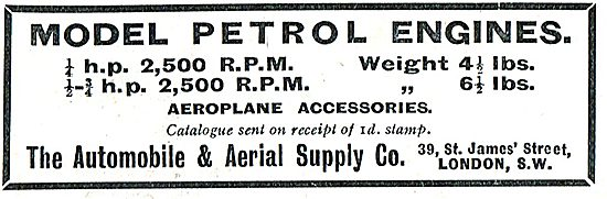 The Automobile & Aerial Supply Co Aero Model Petrol Engines