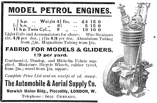 The Automobile & Aerial Supply Co - Model Petrol Engines