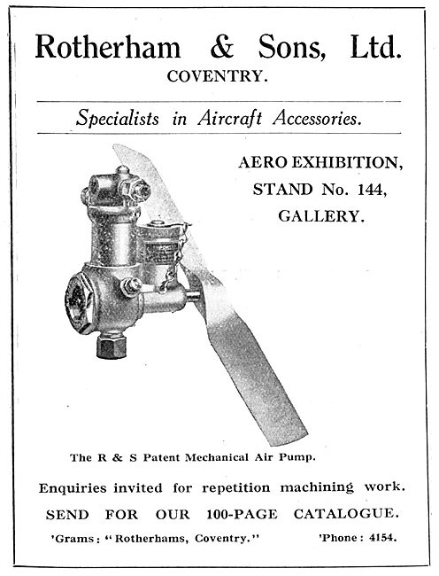 Rotherham & Sons Model Aircraft Accessories