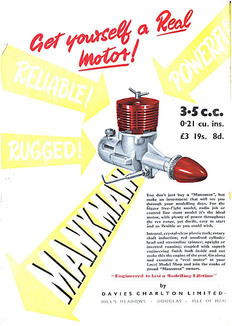 Davies Charlton Manxman 3.5cc Model Aircraft Engine