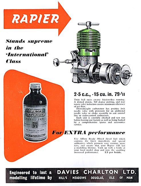 Davies Charlton Precision Engineers. Model Aircraft Engines
