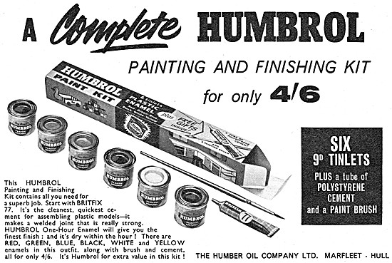 Humbrol Paints & Finishes For Models