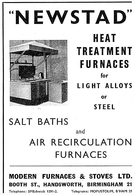 Modern Furnaces & Stoves Ltd : Heat Treatment Furnaces