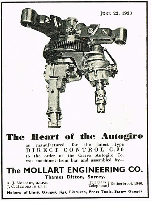 Mollart Direct Control The Heart of The Autogiro