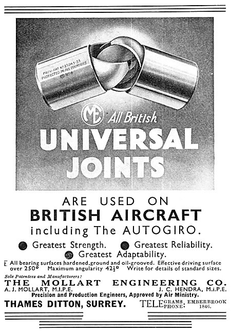 Mollart Universal Joints 1934