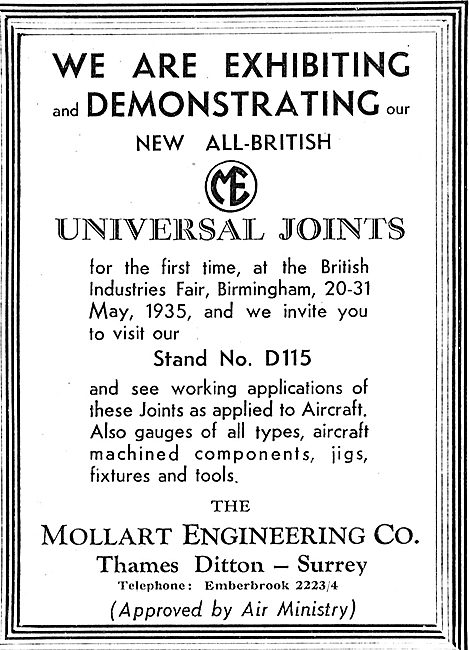 Mollart Universal Ball Joints - Air Ministry Approved
