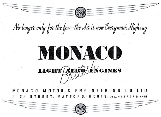 Monaco British Light Aero Engines