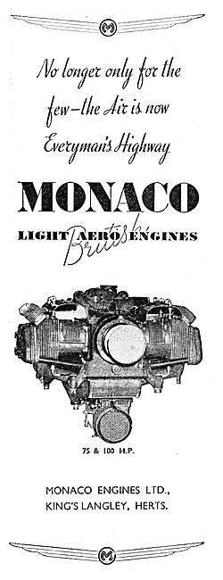 Monaco 75 & 100 HP Aero Engines