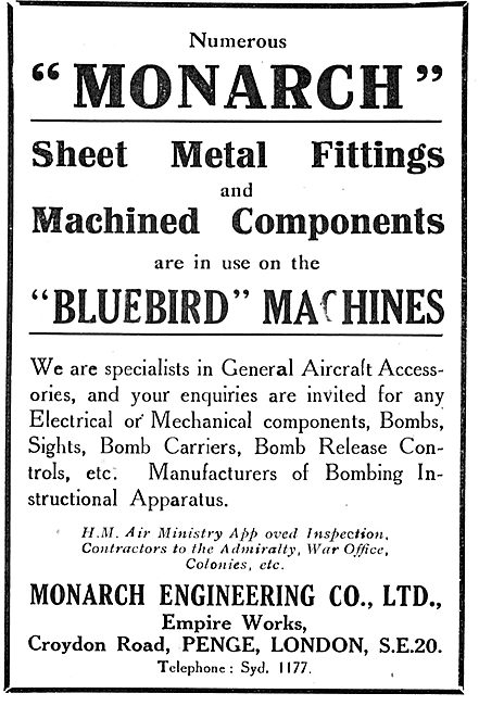 Monk Engineering: Sheet Metal Fittings For Aircraft
