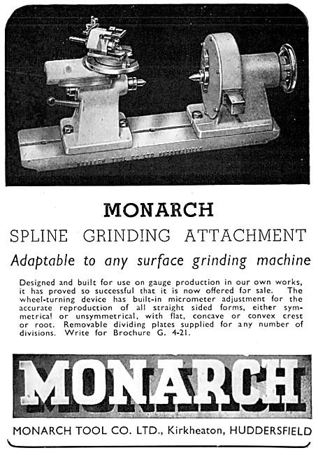 Monarch Tool Company Monarch Spline Grinding Attachment