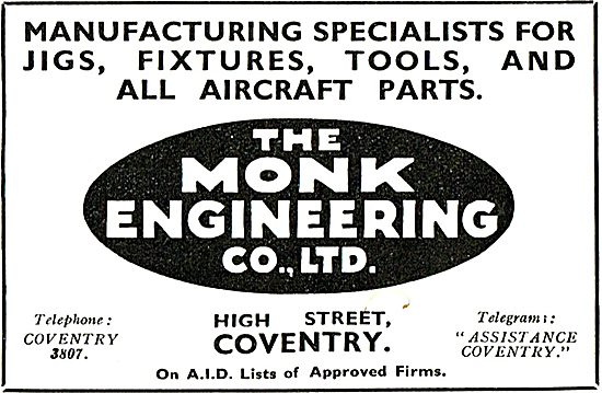 Monk Engineering Co Ltd For Jigs Fixtures and Tools