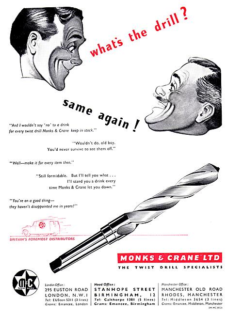 Monks & Crane Twist Drill Specialists