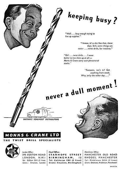 Monks & Crane Twist Drills