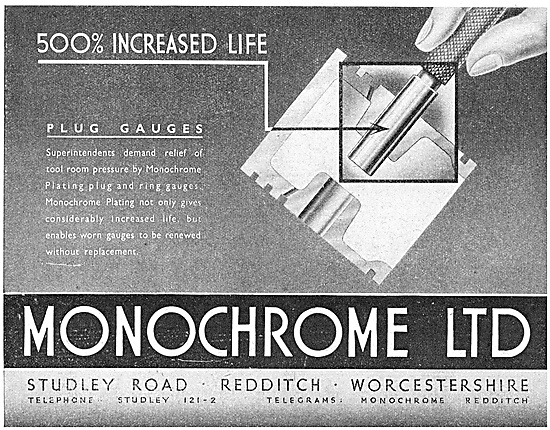 Monochrome Electrroplating - Monochrome Plug Gauges