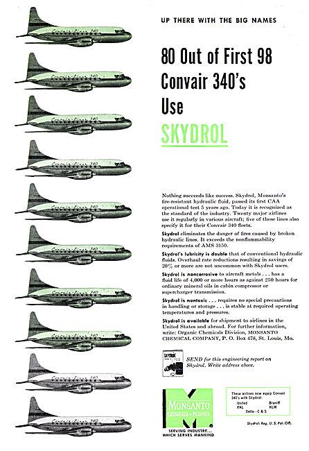 Monsanto Skydrol Hydraulic Fluids For Aircraft