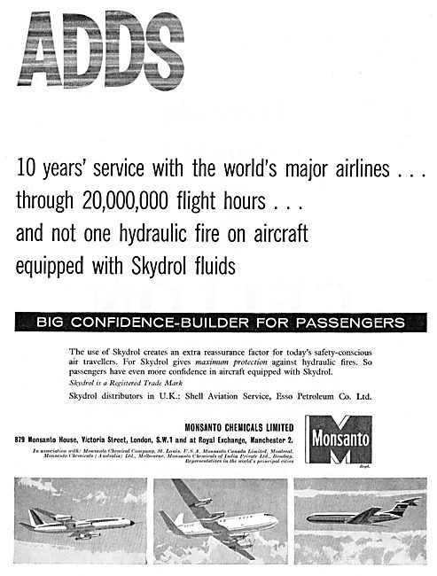 Monsanto Skydrol Hydraulic Fluids For Aircraft