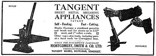 Montgomery Smith - Somerset:  Sheet Metal Shearing Appliances