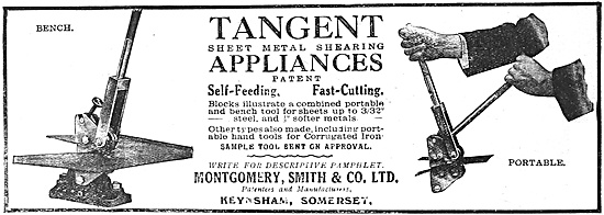 Montgomery Smith Tangent Hand Tools For Metal Cutting